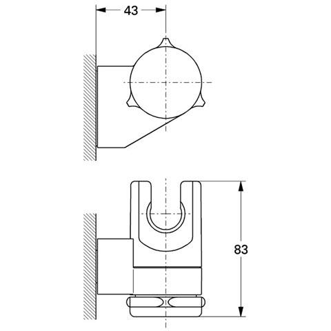 Grohe Relexa Handbrausehalter