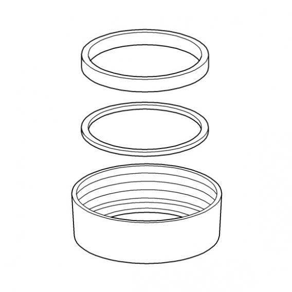 Grohe Abgangsverschraubung 43259 komplett für Lux-Spülkasten weiß