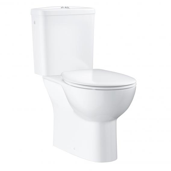 Grohe Bau Keramik Stand-Tiefspül-WC-Kombination, Abgang senkrecht, mit WC-Sitz