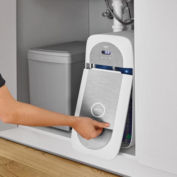 Grohe Blue Home die NEUE Küchenarmatur mit Filterfunktion, C-Auslauf ausziehbar chrom