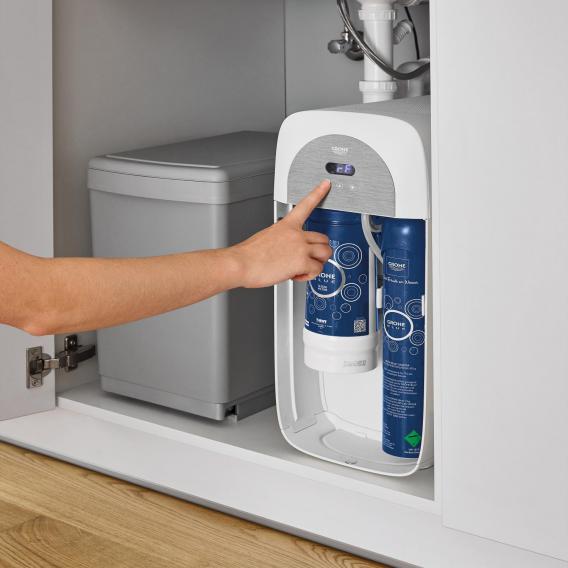 Grohe Blue Home die NEUE Küchenarmatur mit Filterfunktion, U-Auslauf ausziehbar supersteel