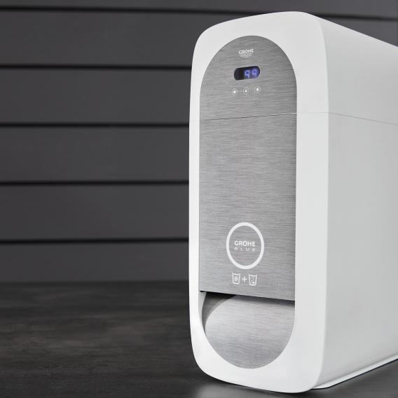 Grohe Blue Home MONO die NEUE Küchenarmatur mit Filterfunktion, C-Auslauf supersteel