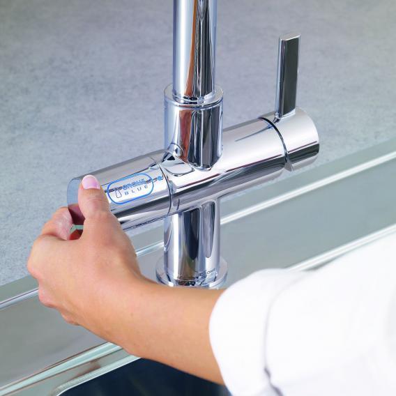 Grohe Blue Pure Küchenarmatur mit Filterfunktion, U-Auslauf chrom