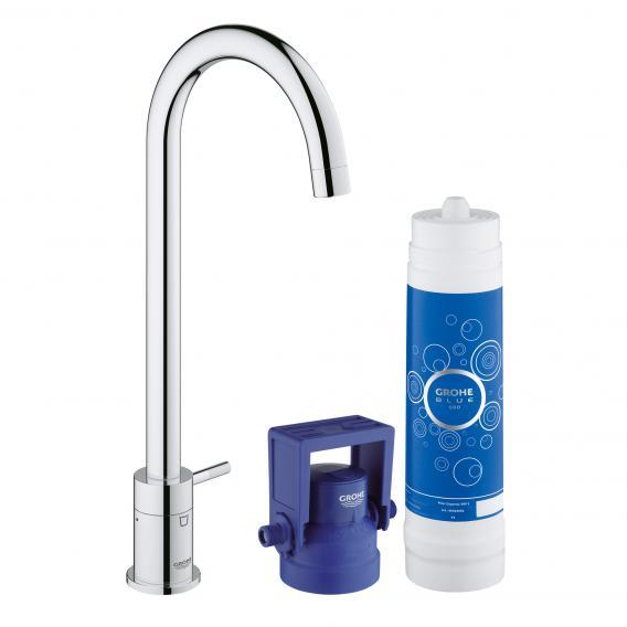 Grohe Blue pure MONO Küchenarmatur mit Filterfunktion, C-Auslauf chrom