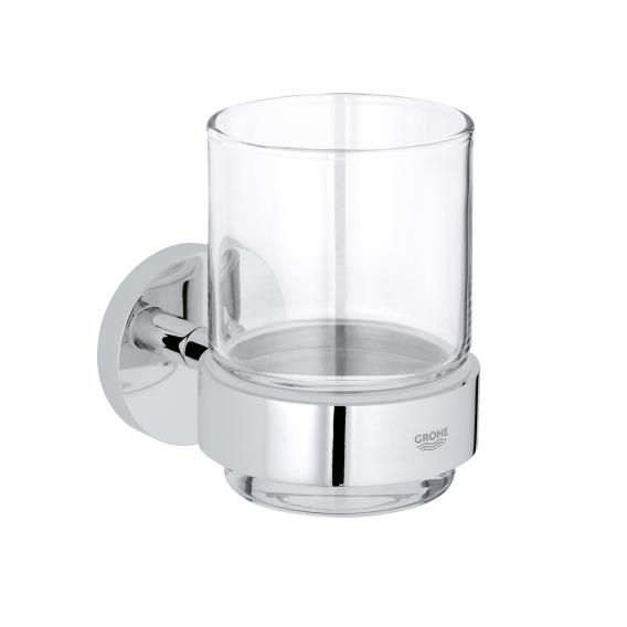 Grohe Essentials Glas mit Halter chrom