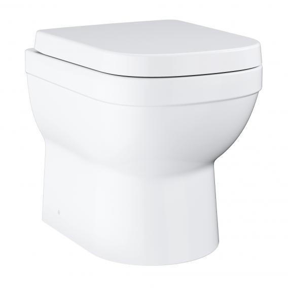 Grohe Euro Keramik Stand-Tiefspül-WC Set, Ausführung kurz, mit WC-Sitz weiß, mit PureGuard Hygieneoberfläche