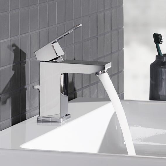 Grohe Eurocube Einhand-Waschtischbatterie, S-Size mit Ablaufgarnitur