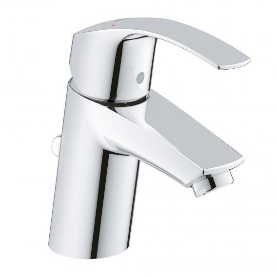 Grohe Eurosmart Einhand-Waschtischbatterie, für offene Warmwasserbereiter, S-Size mit Ablaufgarnitur