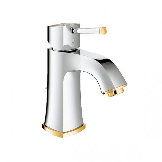 Grohe Grandera Einhand-Waschtischbatterie, M-Size mit Ablaufgarnitur, chrom/gold
