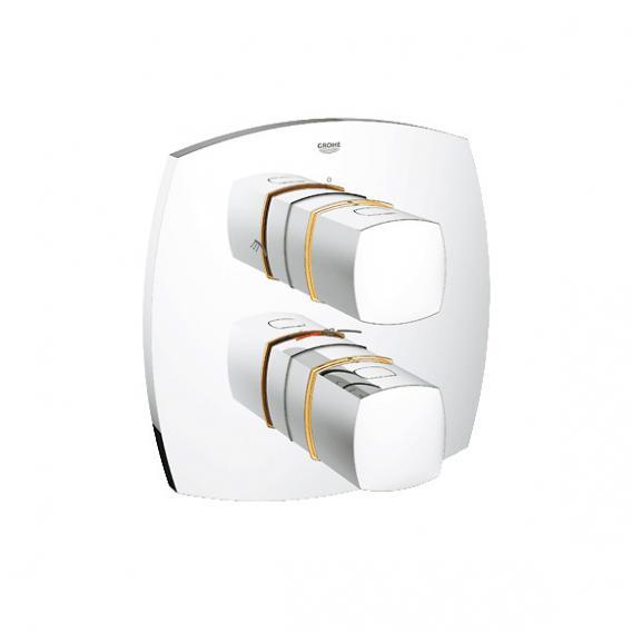 Grohe Grandera Thermostat-Brausebatterie Fertigmontageset integrierte 2-Wege-Umstellung chrom/gold