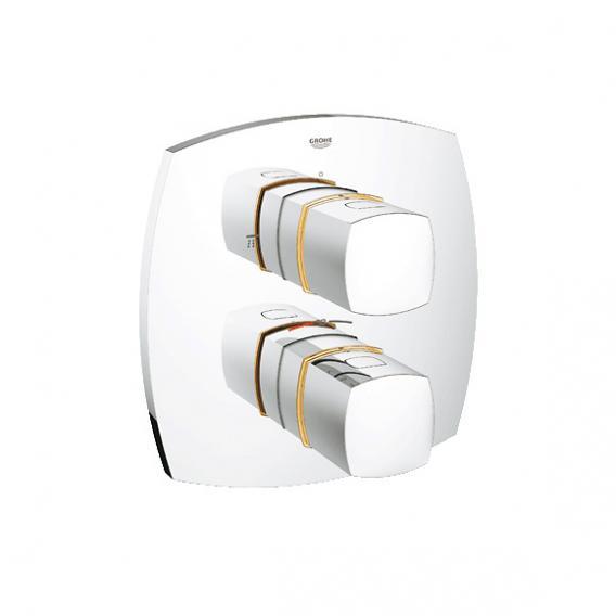Grohe Grandera Thermostat-Wannenbatterie Fertigmontageset, integrierte 2-Wege-Umstellung chrom/gold