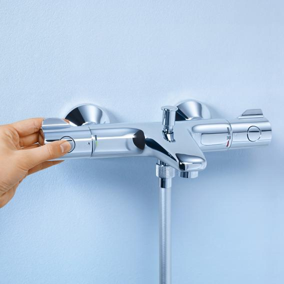 Grohe Grohtherm 800 Thermostat-Wannenbatterie, für Wandmontage