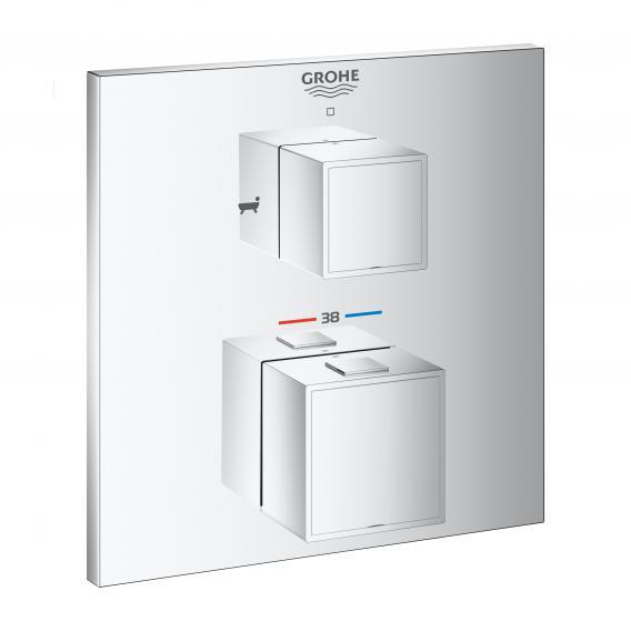 Grohe Grohtherm Cube Thermostat-Wannenbatterie mit 2-Wege-Umstellung für Rapido SmartBox chrom