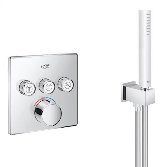 Grohe Grohtherm SmartControl Duschsystem Unterputz mit Mischer & Rainshower 310 SmartActive Cube