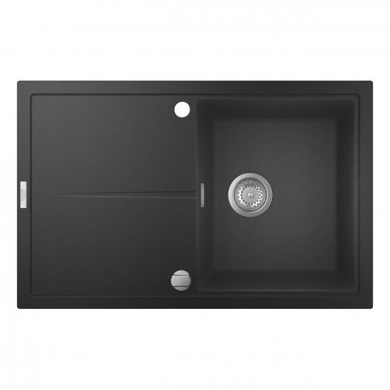 Grohe K400 drehbare Einbauspüle mit Abtropffläche granit schwarz