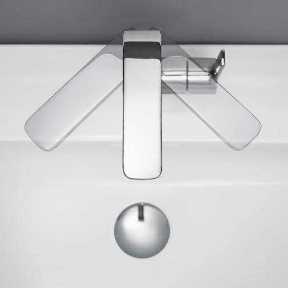 Grohe Lineare Einhand-Waschtischbatterie, L-Size mit Ablaufgarnitur chrom