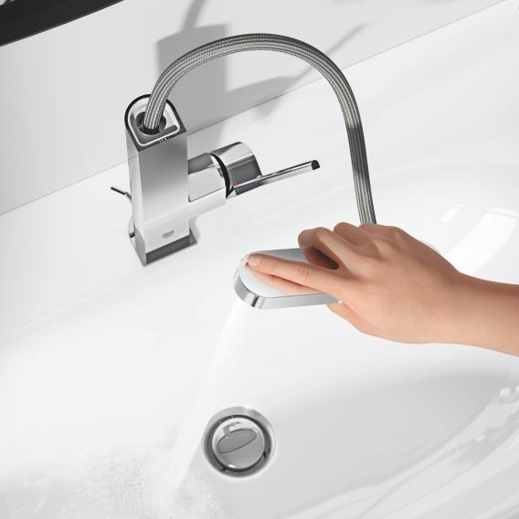 Grohe Plus Einhand-Waschtischbatterie L-Size, mit herausziehbarem Auslauf chrom, mit Push-Open-Ablaufventil