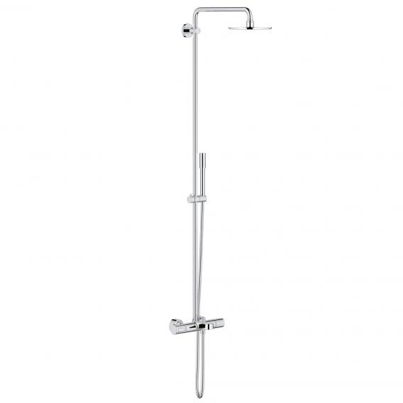 grohe rainshower system 210 duschsystem mit thermostat wannen batterie f r die wandmontage. Black Bedroom Furniture Sets. Home Design Ideas