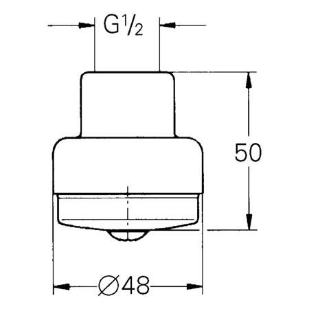 Grohe Relexa Kopfbrause, aerosolarm