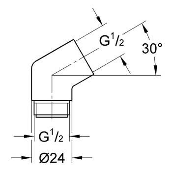 """Grohe Sena Adapter 1/2"""" x 1/2"""""""