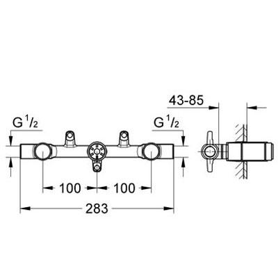 Grohe Zweihand Unterputz-Universal-Einbaukörper, DN 15