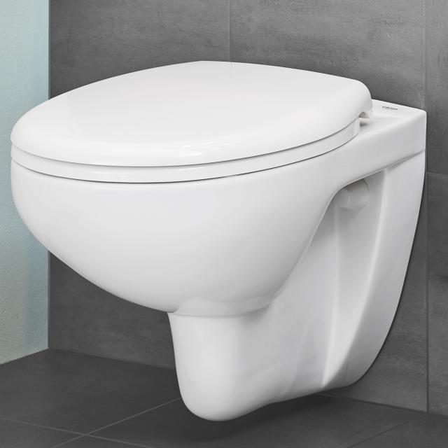 Grohe Bau Keramik Wand-Tiefspül-WC Set, weiß, mit WC-Sitz
