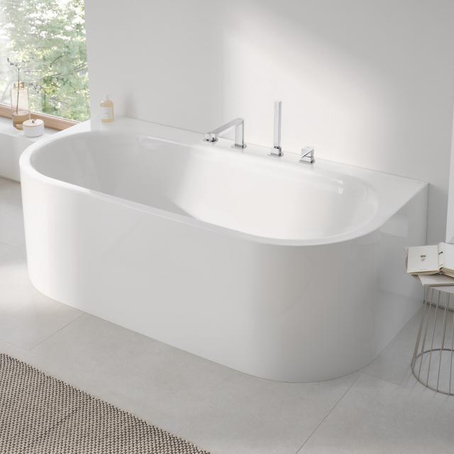 Grohe Essence Vorwand-Badewanne mit Verkleidung weiß