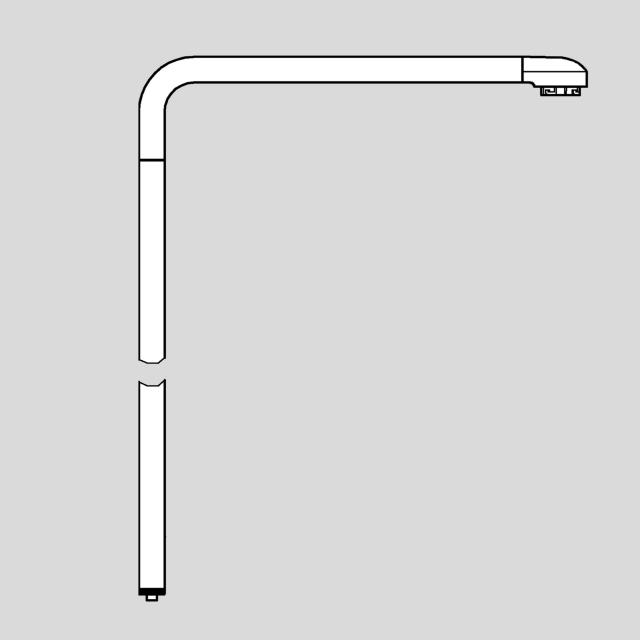 Grohe Euphoria SmartControl Duo Ersatz-Brauserohr für Duschsysteme, 15 cm länger als Original-Brauserohr