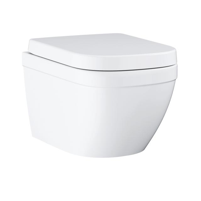 Grohe Euro Keramik Wand-Tiefspül-WC Compact Set, mit WC-Sitz weiß, mit PureGuard Hygieneoberfläche