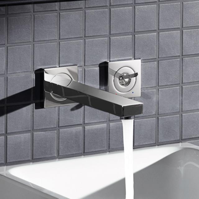 Grohe Eurocube Joy 2-Loch-Waschtischbatterie, für Wandmontage Ausladung: 230 mm