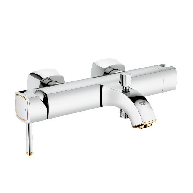 Grohe Grandera Einhand-Wannenbatterie, DN 15 chrom/gold