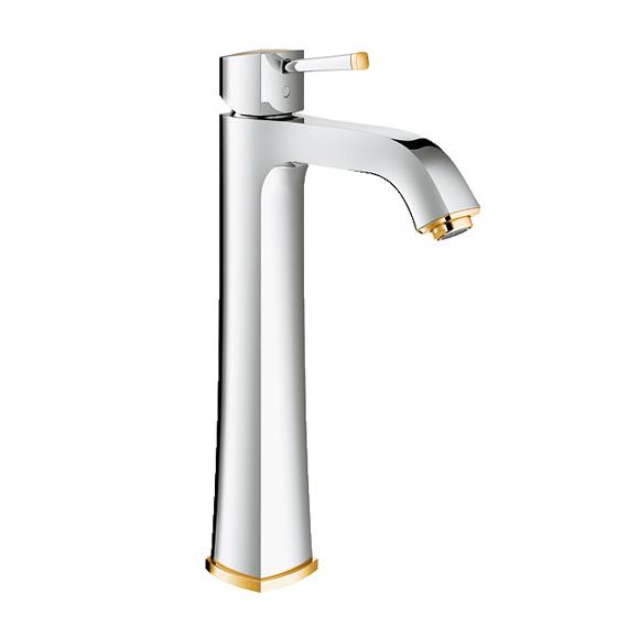 Grohe Grandera Einhand-Waschtischbatterie, für freistehende Waschschüsseln, XL-Size ohne Ablaufgarnitur, chrom/gold
