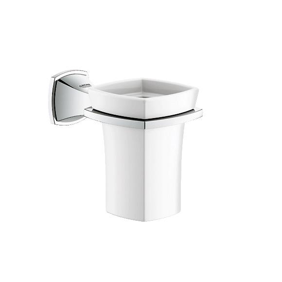 Grohe Grandera Halter mit Keramik-Mundspülglas chrom