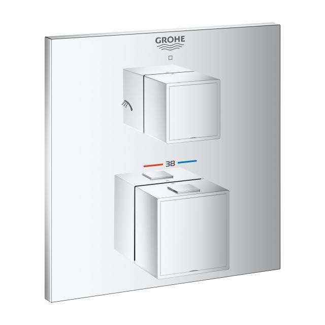 Grohe Grohtherm Cube Thermostat-Brausebatterie mit 2-Wege-Umstellung für Rapido SmartBox