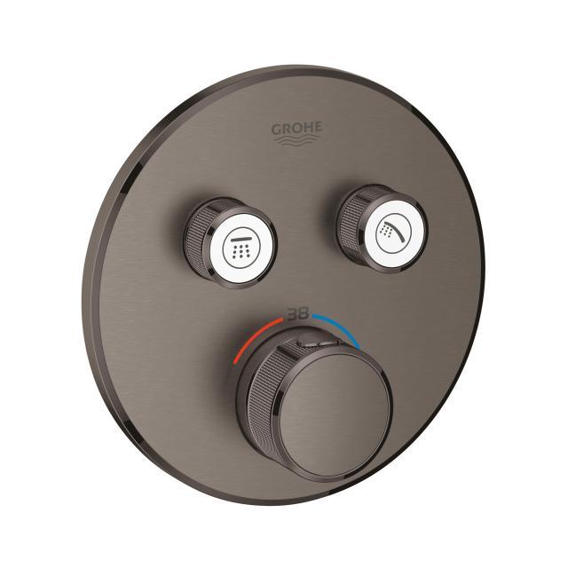 Grohe Grohtherm SmartControl Thermostat mit 2 Absperrventilen hard graphite gebürstet