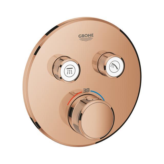 Grohe Grohtherm SmartControl Thermostat mit 2 Absperrventilen warm sunset