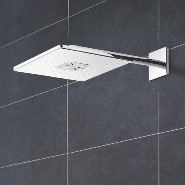 Grohe Rainshower 310 SmartActive Cube Kopfbrauseset moon white/chrom