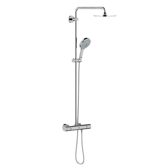 Grohe Rainshower System 210 Duschsystem mit Thermostatbatterie für Wandmontage
