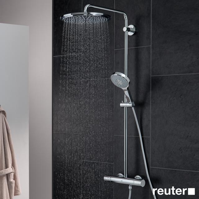 Grohe Rainshower System 310 Duschsystem mit Thermostatbatterie für Wandmontage