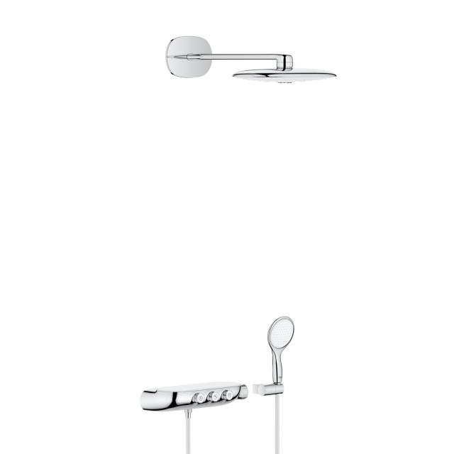 Grohe Rainshower System SmartControl 360 DUO Duschsystem mit Thermostatbatterie chrom/moon white