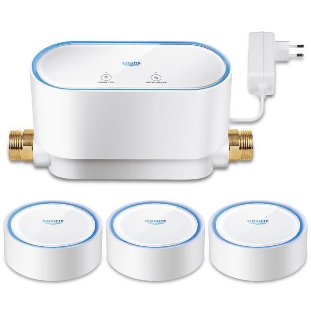 Grohe Sense Guard Intelligente Wassersteuerung & 3 intelligente Wassersensoren für Wireless LAN