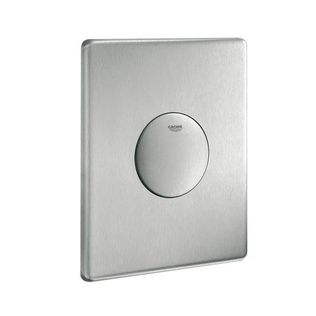 Grohe Skate Edelstahl-Abdeckplatte WC-Druckspüler, senkrechte Montage edelstahl matt