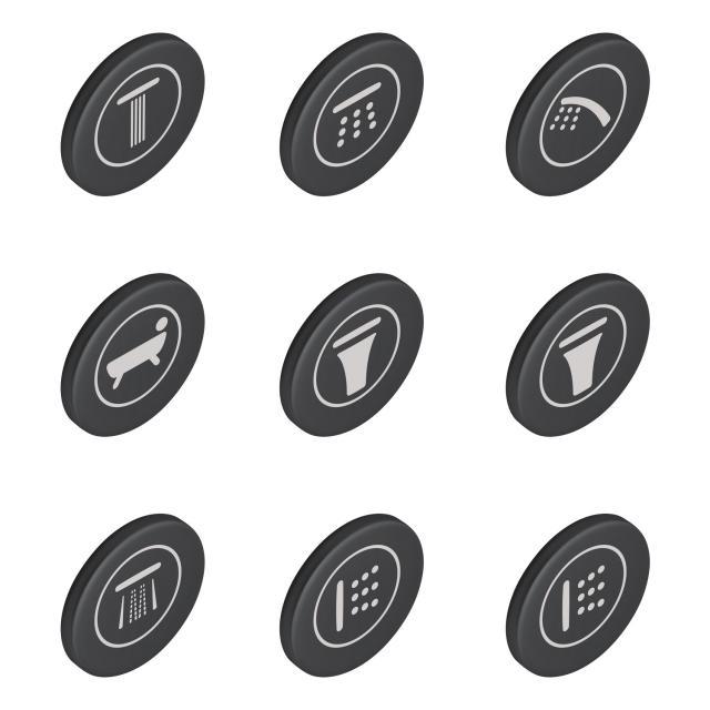 Grohe SmartControl Symbolkappen für Unterputzarmaturen