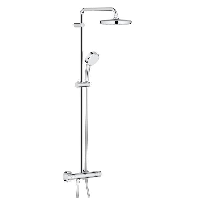 Grohe Tempesta Cosmopolitan System 210 Duschsystem mit Thermostatbatterie für Wandmontage