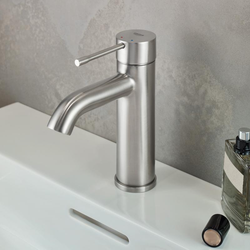 Grohe Essence Einhand-Waschtischbatterie, S-Size ohne Ablaufgarnitur ...