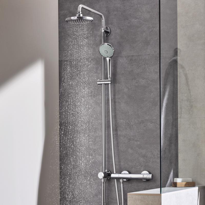 Duschsystem mit umstellung für die wandmontage