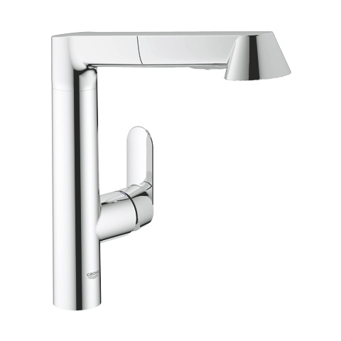 grohe k7 einhand sp ltischbatterie mit herausziehbarer brause dn15 chrom 32176000 reuter. Black Bedroom Furniture Sets. Home Design Ideas