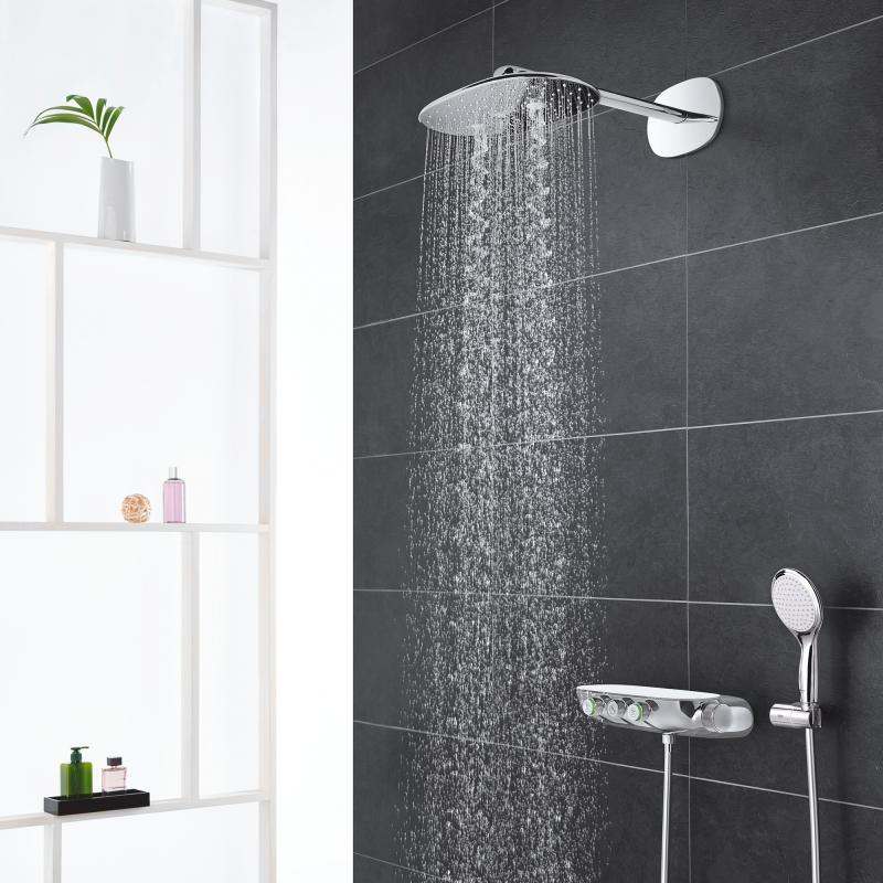grohe rainshower system smartcontrol 360 duo duschsystem mit thermostatbatterie chrom 26443000. Black Bedroom Furniture Sets. Home Design Ideas