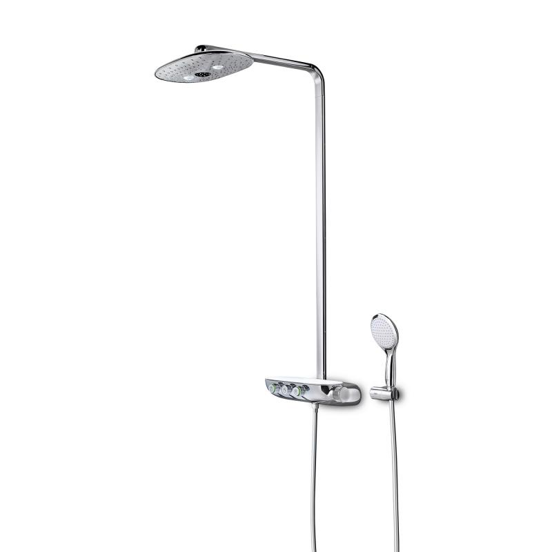 grohe rainshower system smartcontrol 360 duo duschsystem mit thermostatbatterie chrom moon white. Black Bedroom Furniture Sets. Home Design Ideas