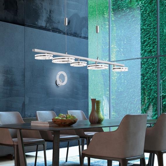 Fischer & Honsel Kreis LED Pendelleuchte mit CCT und Dimmer, länglich
